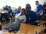 General Manager, Mike Hill with Child at Ronald McDonald House