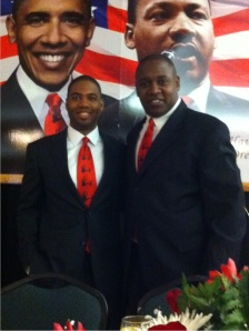 Derek Jackons and Mike Hill, 5000 Role Models of Excellence mentor induction