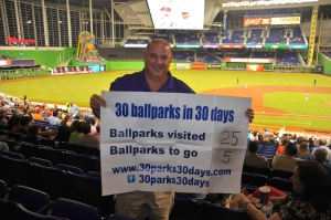 Eric Mueller is visiting 30 MLB parks in 30 days to raise awareness for LLS.
