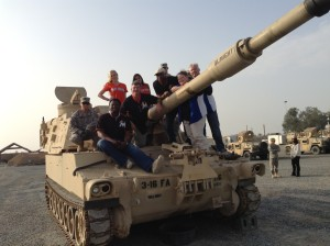 Members of the Miami Marlins 2014 Troops Visit in Kuwait.