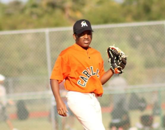 Ayeo Randolph representing Marlins RBI.