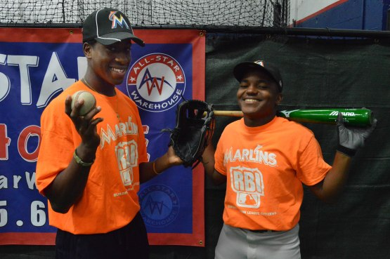 James Falmer and Ayeo Randolph of Miami Carol City High School.